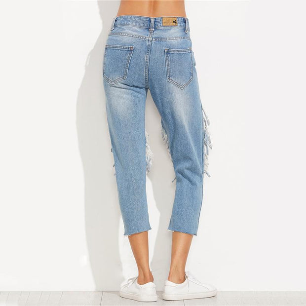 I DO WHATEVER I LIKE Cropped Jeans - OutFancy