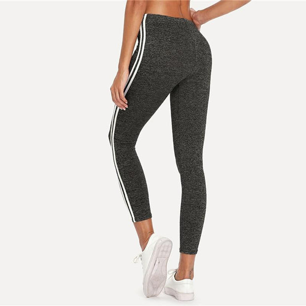 TALK IS CHEAP Tape Leggings - OutFancy