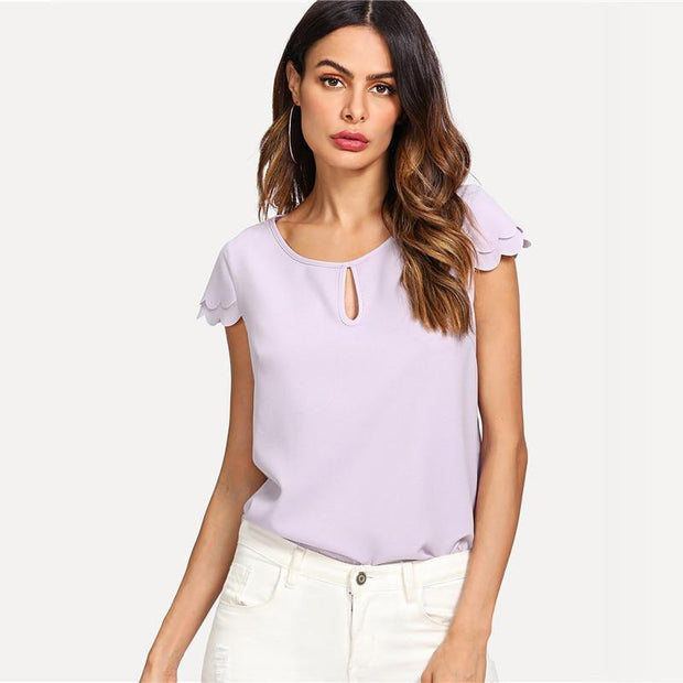 LIVE YOUNG Purple Blouse - OutFancy