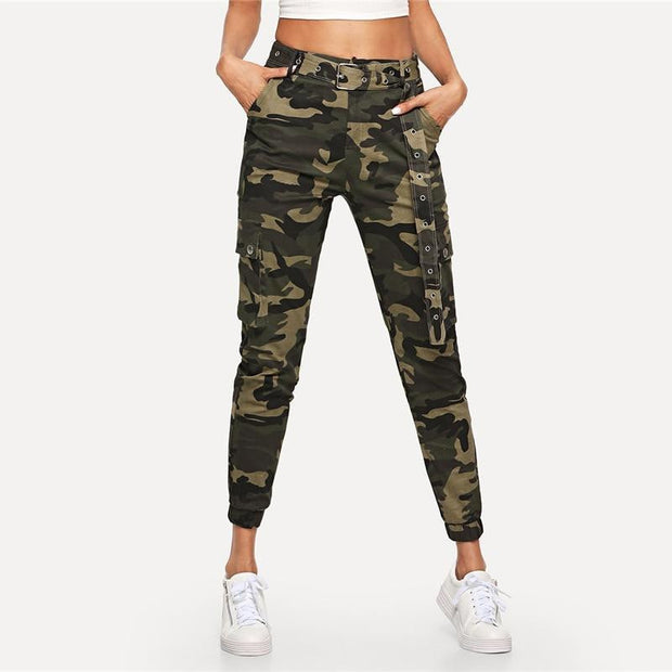 DON'T LET GO Camouflage Pants - OutFancy
