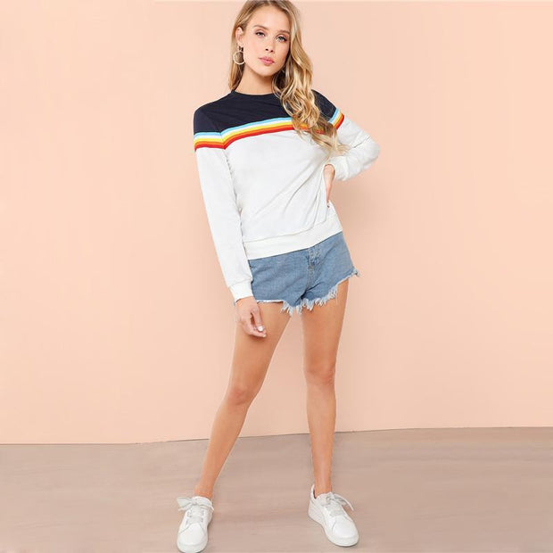 Sweatshirt Rainbow Striped 2018 - OutFancy