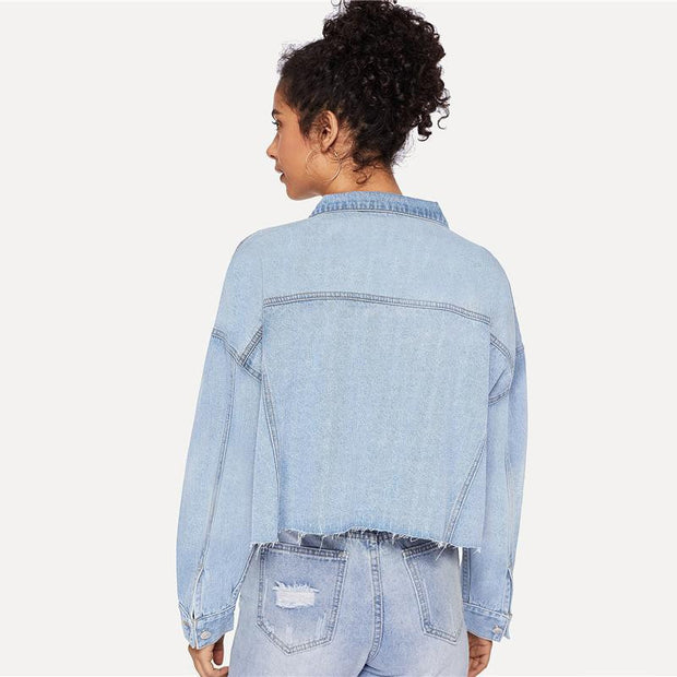 Casual Denim Jacket - OutFancy