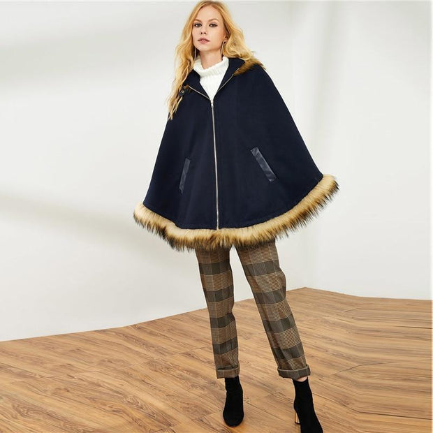 Poncho Hooded Coat - OutFancy
