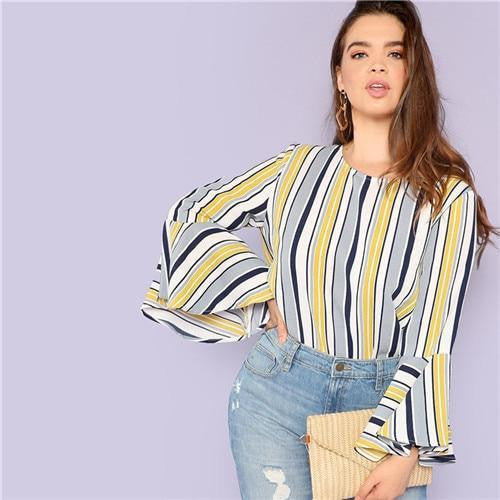 O Neck Fashion Top Blouse - OutFancy