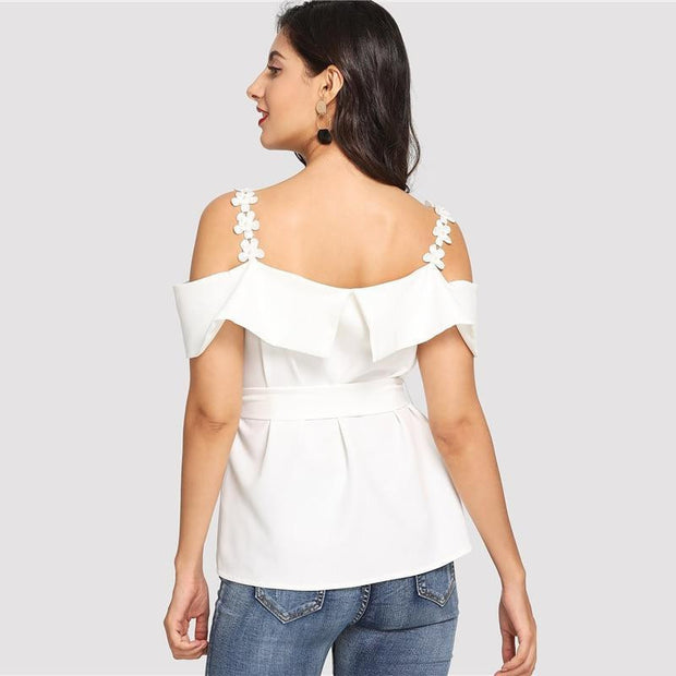 Sexy Short Sleeve Blouse - OutFancy