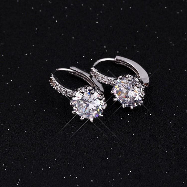 Women Large Crystal Earrings