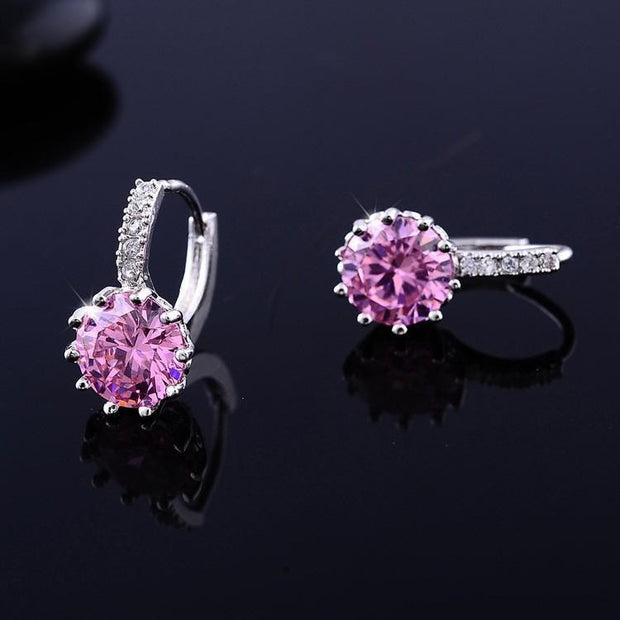 Women Large Crystal Earrings - OutFancy