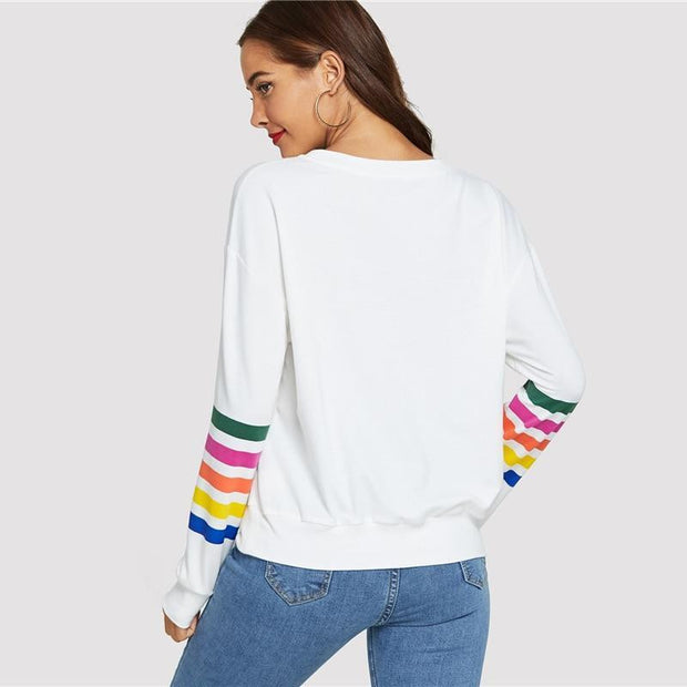 White Sweatshirt Autumn 2018 - OutFancy