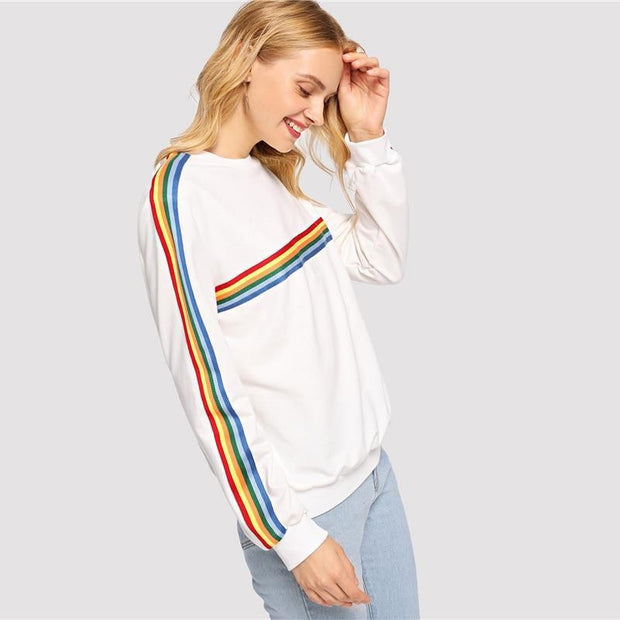 Colorful Striped T-Shirt 2018 - OutFancy