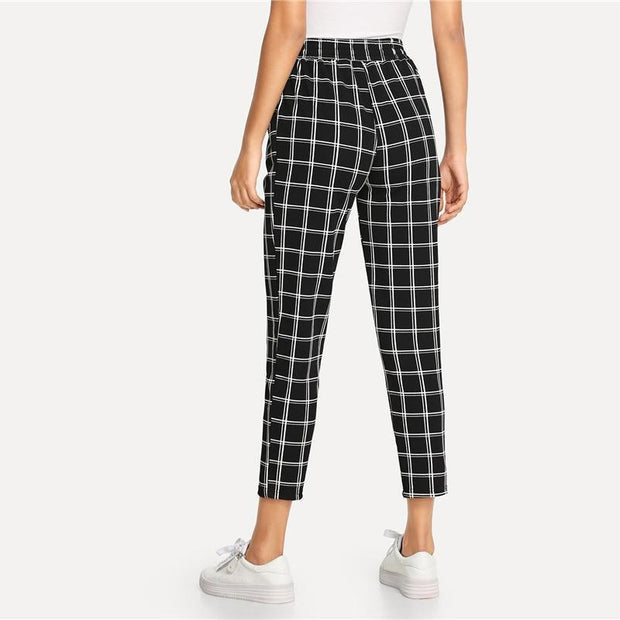 PERFECT TIMING Plaid Pants - OutFancy