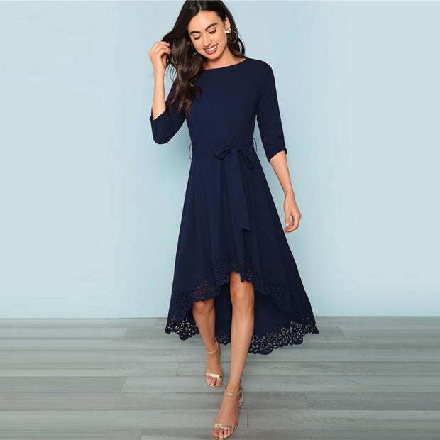 EVENING IN MILAN  Asymmetrical Elegant  Maxi Dress - OutFancy