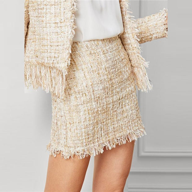 CAN'T TOUCH THIS Tweed Skirt - OutFancy