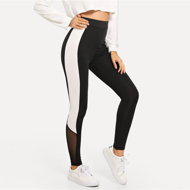 A BEAUTIFUL MESS Colorblock Leggings - OutFancy