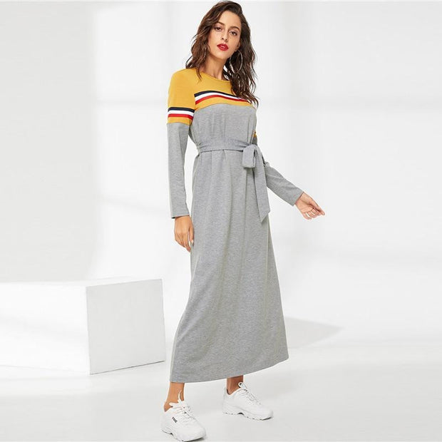 OutFancy Belted MAXI Dress - OutFancy