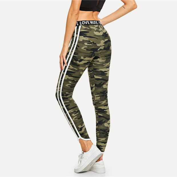 ON THE RUN Camouflage Leggings - OutFancy