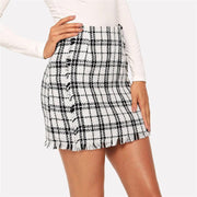 LEADING THE WAY Tweed Skirt - OutFancy
