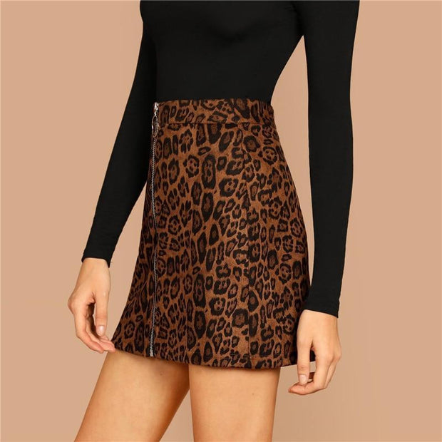 PRETTY WILD THING Zip Up Skirt - OutFancy