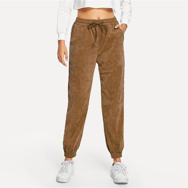 LOVE ME NOW Camel Corduroy Pants - OutFancy