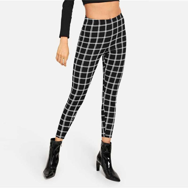 BEST I EVER HAD Plaid Leggings - OutFancy