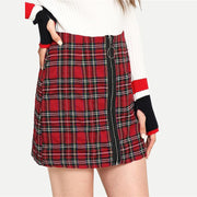 MORE TO SEE Plaid Skirt - OutFancy