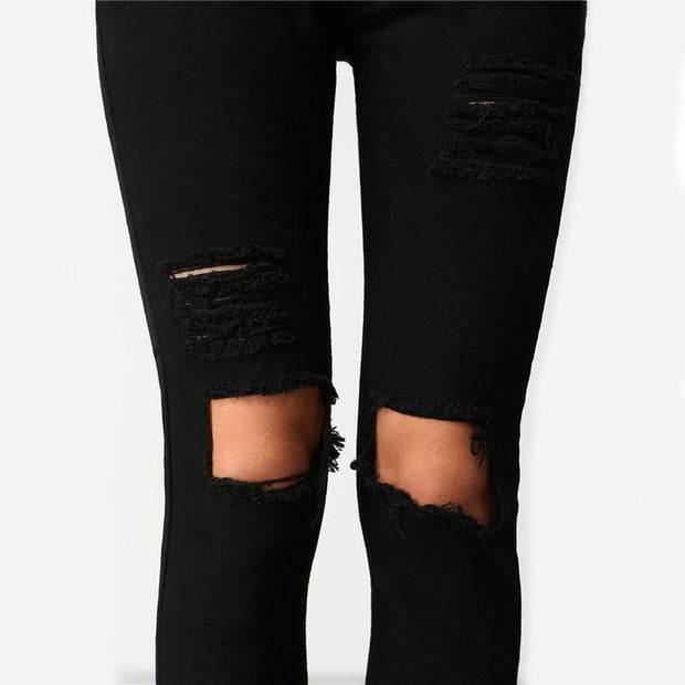 SHE'S CRAZY Ripped Jeans - OutFancy