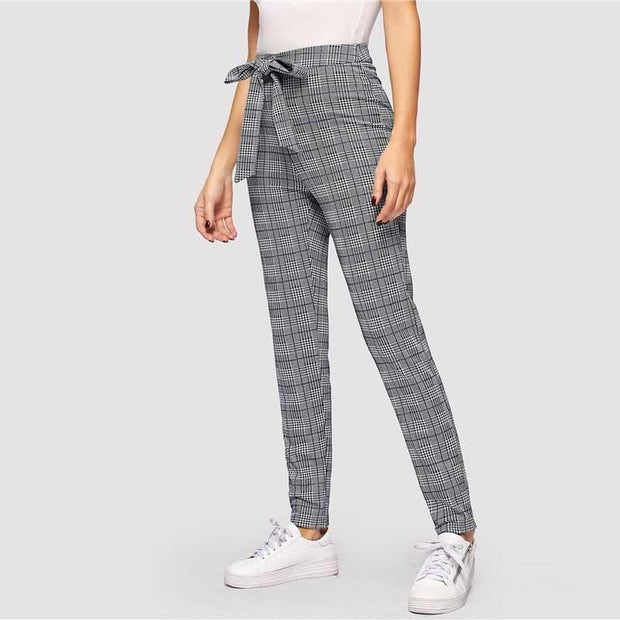 KNOT YOUR GIRL Plaid Pants - OutFancy