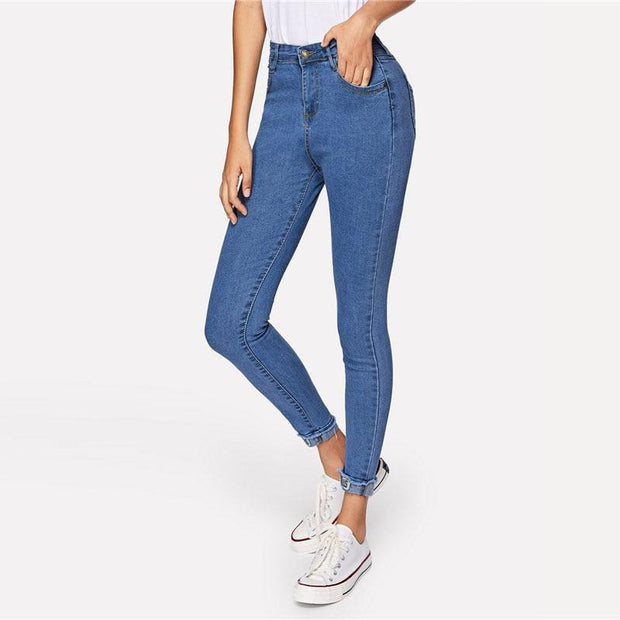 GREATEST LOVE Roll Up Hem Jeans - OutFancy