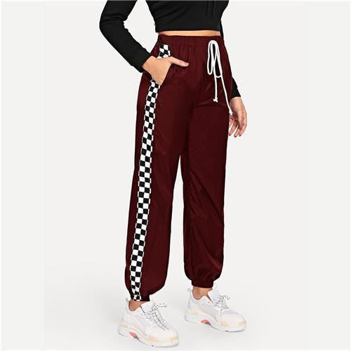 LOVE ME Burgundy Pants - OutFancy