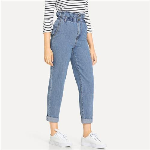 WIFEY HIGH RISE Rolled Hem Jeans - OutFancy