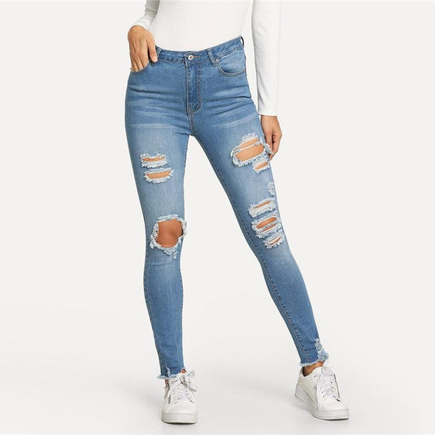 I DO WHATEVER I LIKE Ripped Jeans - OutFancy