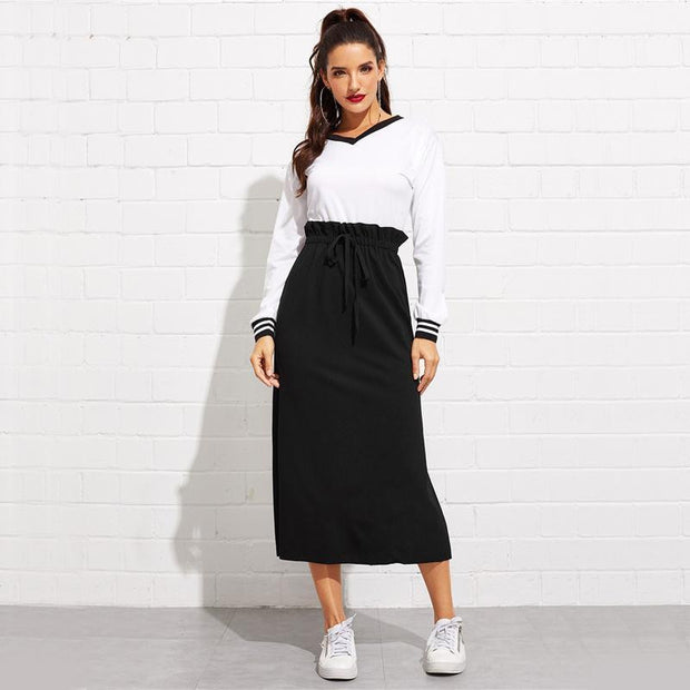 BABY CHANGE ME Black Skirt - OutFancy