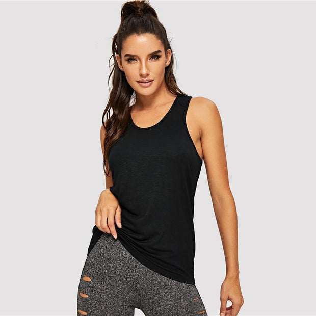 WORK WITH ME Activewear Elastic Tank Top - OutFancy