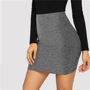 ACROSS THE UNIVERSE Metallic Bodycon Skirt - OutFancy