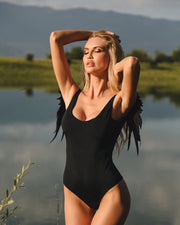 Angel Wings One Piece Swimsuit - OutFancy