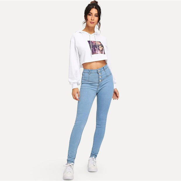 LOVE ME Skinny High Waist Jeans - OutFancy