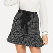 KNOT YOUR GIRL Tweed Skirt - OutFancy