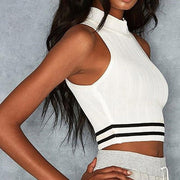 KEEPING IT FUN Sleeveless Crop Top - OutFancy