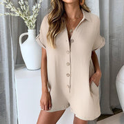 LOVE THE MUSIC Loose Short ROMPER - OutFancy