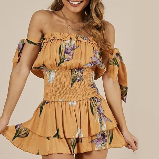 WHERE THE SUN SHINES FLORAL ROMPER