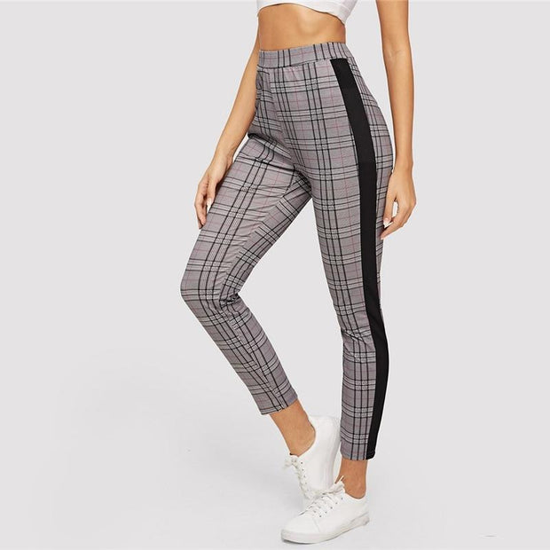YOUR NEW FAVORITE Plaid Skinny Pants - OutFancy