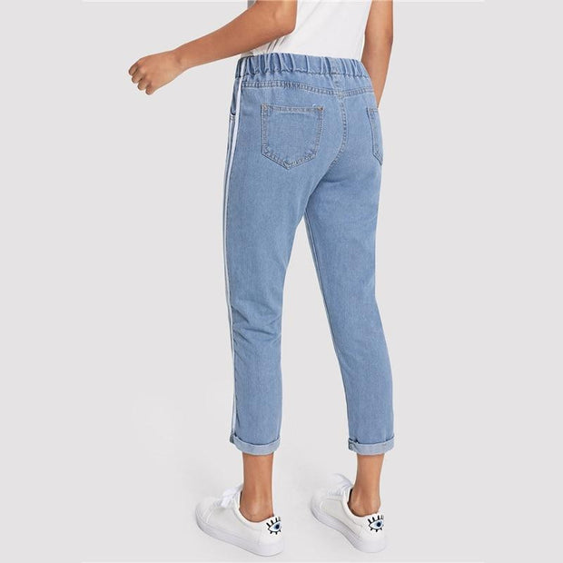GET YOU ALONE Striped Jeans - OutFancy