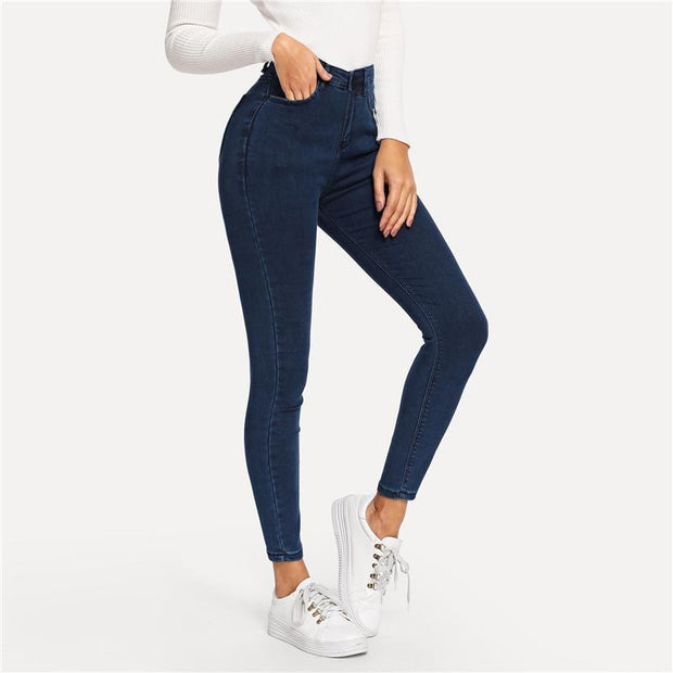 WIFEY HIGH RISE Navy Jeans