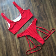 LOVE YOURSELF Neon Red Bikini - OutFancy
