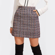 JUST FOR YOU Tweed Skirt - OutFancy