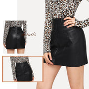 LEFT YOU BREATHLESS Bodycon Leather Skirt - OutFancy