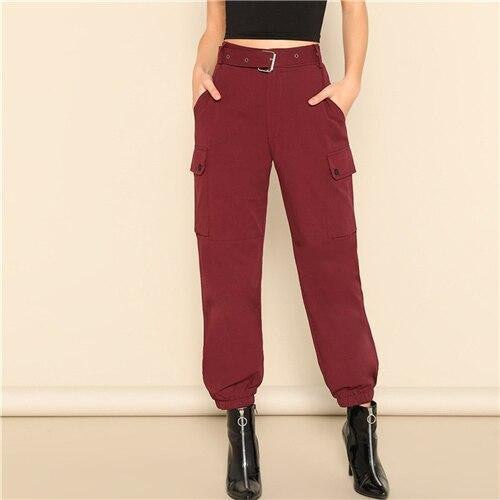 ALWAYS AHEAD BELTED Pants - OutFancy