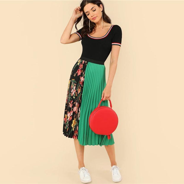 ALWAYS A GOOD TIME Floral Skirt - OutFancy