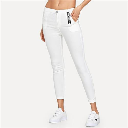 WHITE LIAR Skinny Jeans - OutFancy
