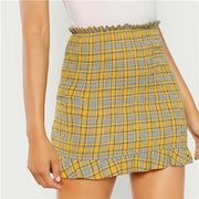 NEED YOUR LOVE Plaid Skirt - OutFancy