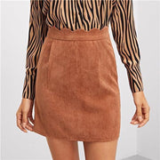YOU'RE JUST FOR ME Brown Skirt